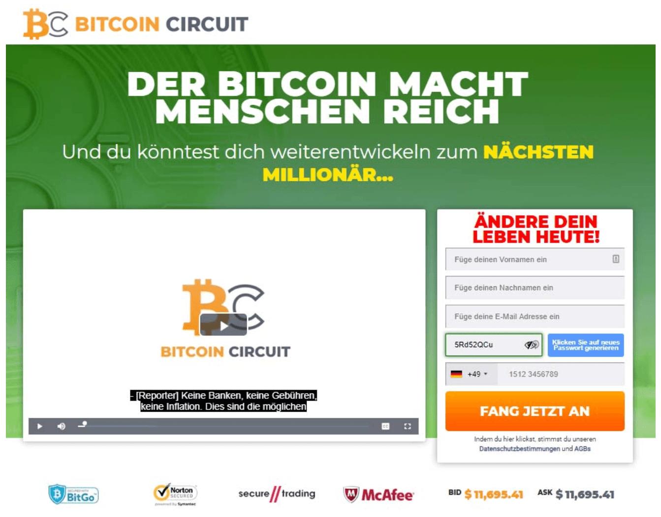 Bitcoin Circuit Betrug