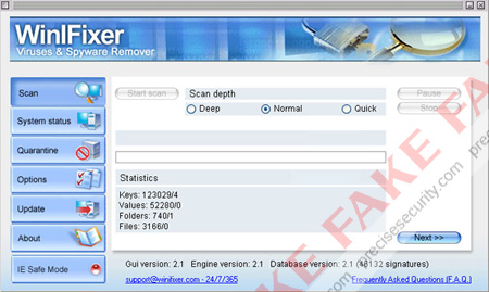 WinIFixer Fake Scanner
