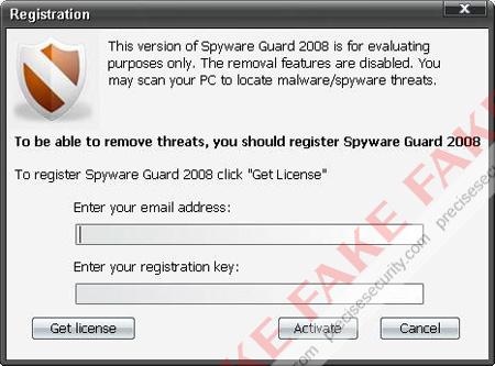 Spyware Guard 2008 Registration