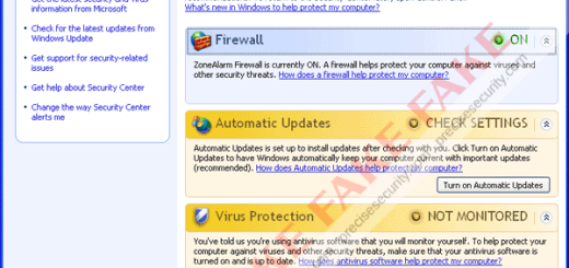Microsoft Security Adviser Fake Antivirus