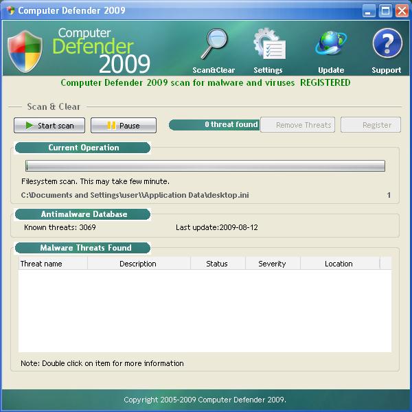 computer defender 2009