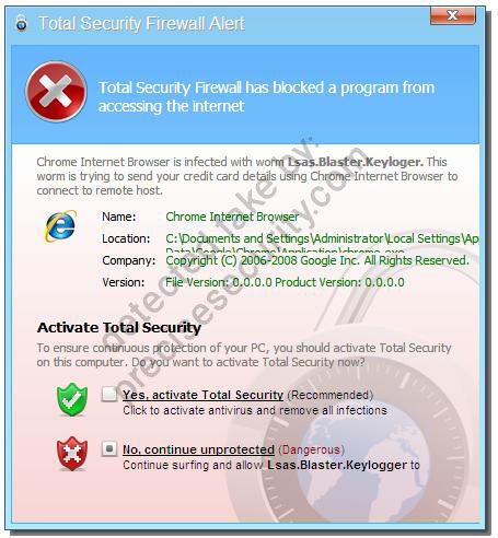 Total Security Firewall Alert - Virus Solution and Removal
