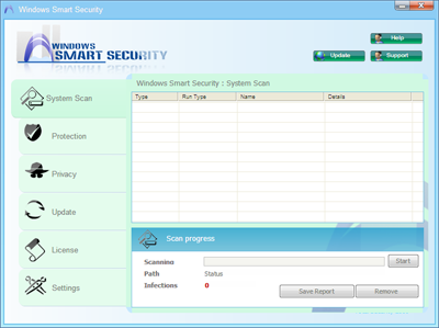 Windows Smart Security System Scan