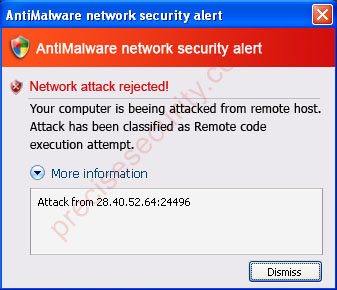 AntiMalware Network Security Alert
