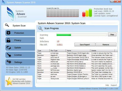 System Adware Scanner 2010