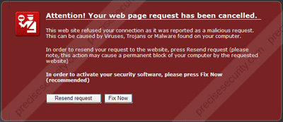 Screen Shot - Attention! Your web page request has been cancelled