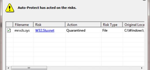 W32.Stuxnet detection