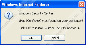 Virus (Conficker) was found