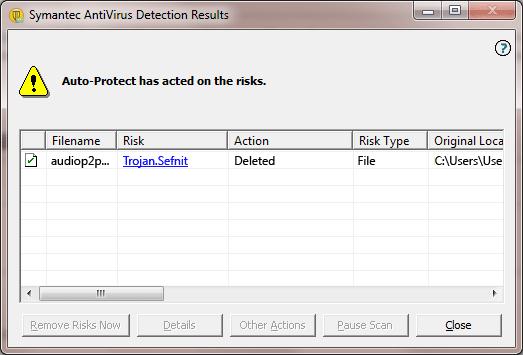 Trojan.Sefnit Detection