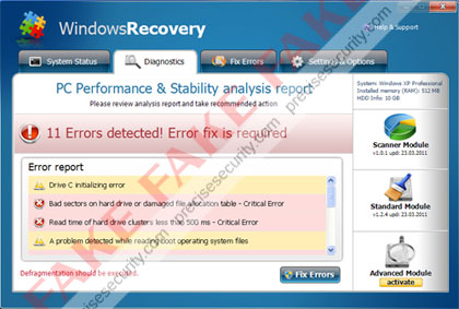 Windows Recovery Virus