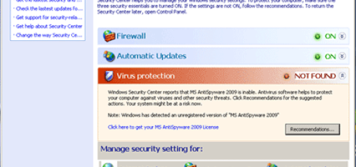 Fake Microsoft Security Center 2011