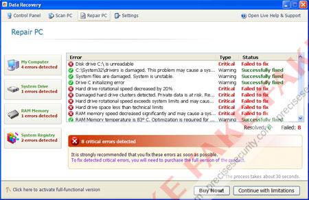Data Recovery virus