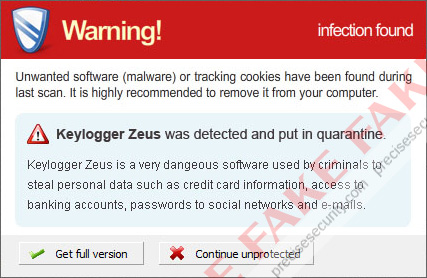 Keylogger Zeus Warning
