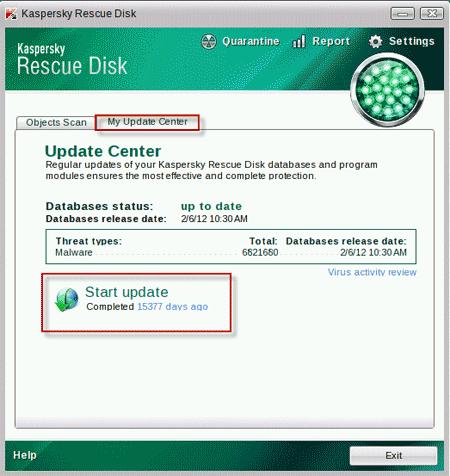 Kaspersky Rescue Disk Scanner