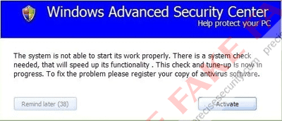 Activate  Windows Advanced Security Center
