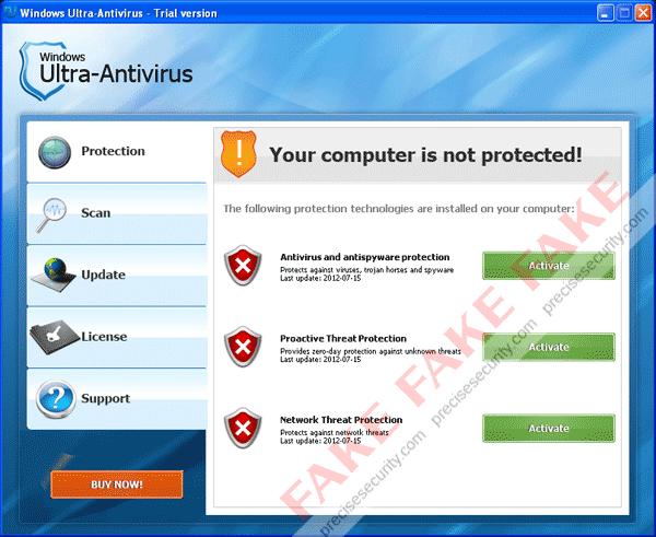 Fake Windows Ultra-Antivirus