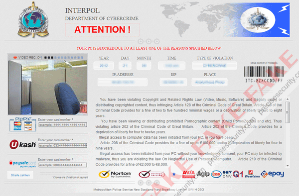 Fake Interpol Image