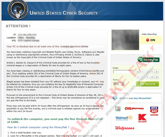 US Cyber Security Virus