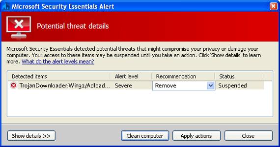 Help! Trojandownloader:win32/adload. Da virus malware finding and.