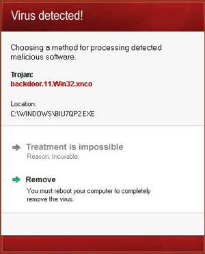 Win32/Bafruz Fake Warning