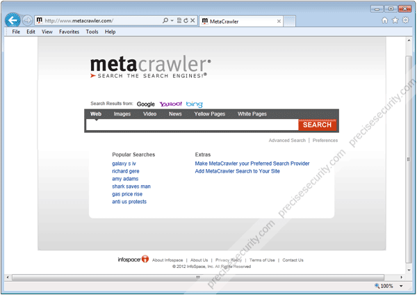 MetaCrawler Home Page