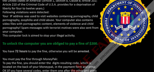 Department of Justice Ransomware