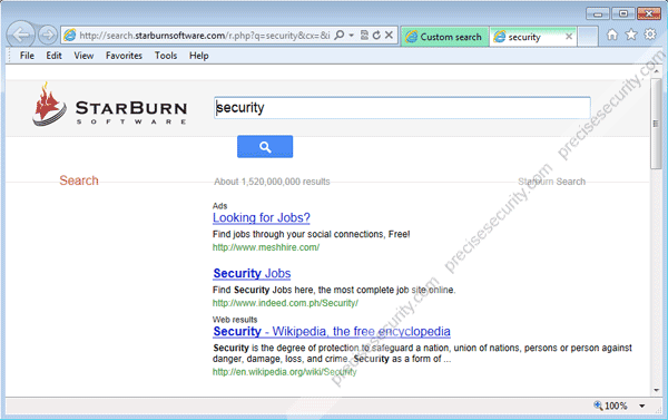 StarBurn Software Search