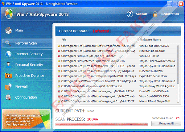 Win 7 Anti-Spyware 2013