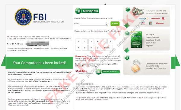 Fake FBI Warning Version 1