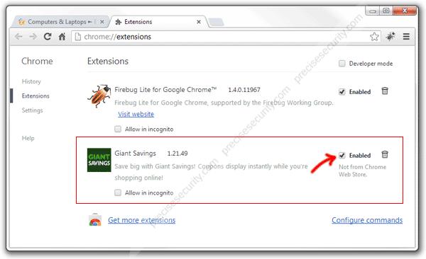 Giant Savings Extension Chrome