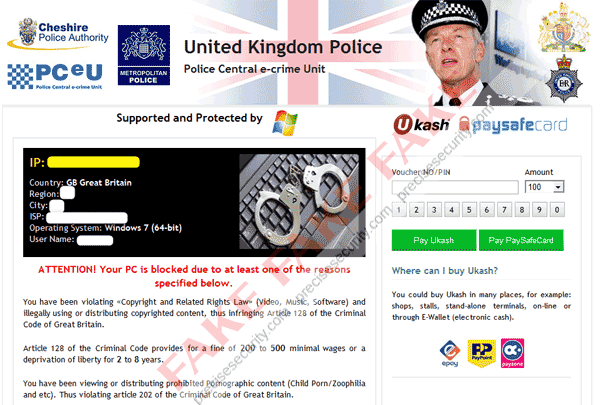 Fake United Kingdom Police