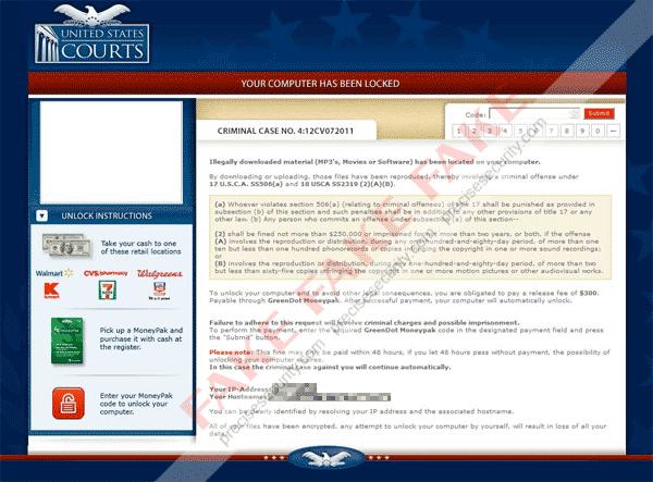 United States Courts Moneypak