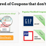 ZenDeals Toolbar and Coupons