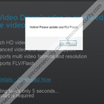 """Remove """"Please update your FLV Player"""" Pop-up"""
