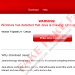 """WARNING! Windows has detected that Java is missing. Update immediately"""