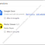 Get rid of Media Viewer 1.1 extension