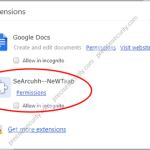 Remove Search-NewTab Extension
