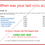 "Remove ""When was your last virus scan?"" pop-up"