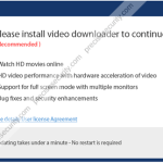 """Remove """"Please install video downloader to continue"""" pop-up"""