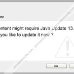 "Remove ""This content requires Java Update 13.6"" fake alert"