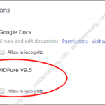 Remove HDPure V9.5 Extension