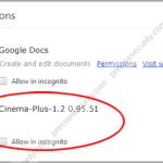 Remove Cinema-Plus extension