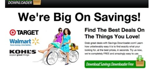 Remove Savings Downloader Ads