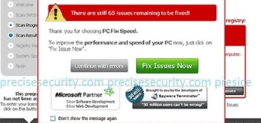 remove pc fix speed malware