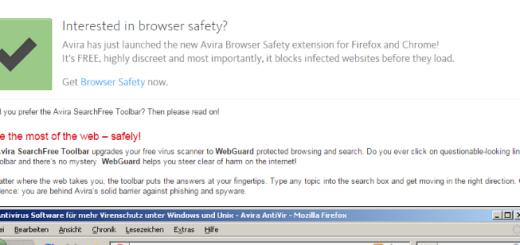 remove avira searchfree toolbar