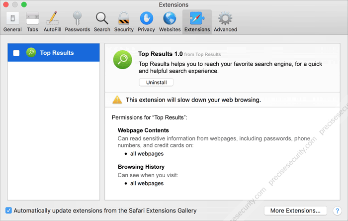 Top Results Adware Removal (Mac OS) - Virus Solution and Removal