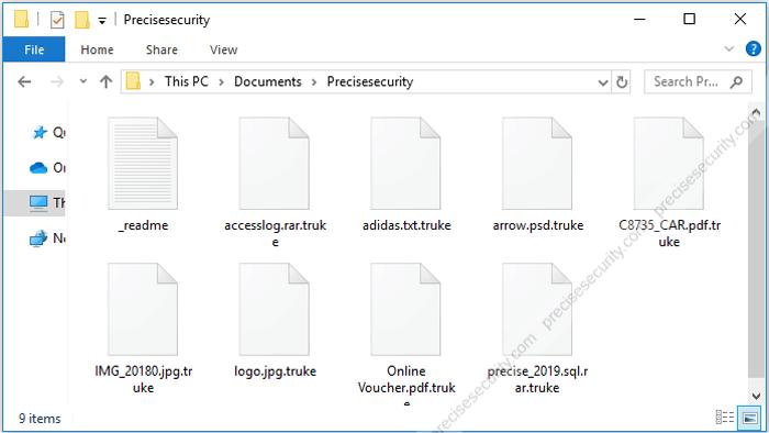Remove Truke Ransomware ( Truke File Decryption) - Virus Solution