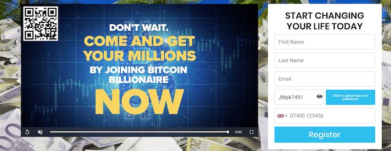 Bitcoin Billionaire Registration
