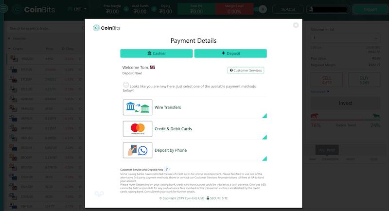Bitcoin Trader Deposit