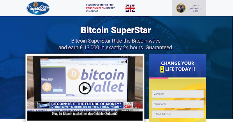 Bitcoin Superstar Homepage